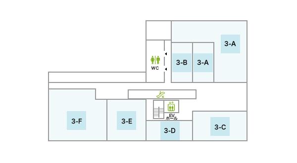 ホテルオーレ3Fフロアマップ