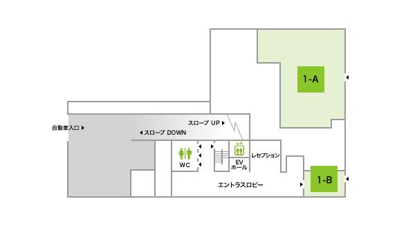 ホテルオーレ1Fフロアマップ