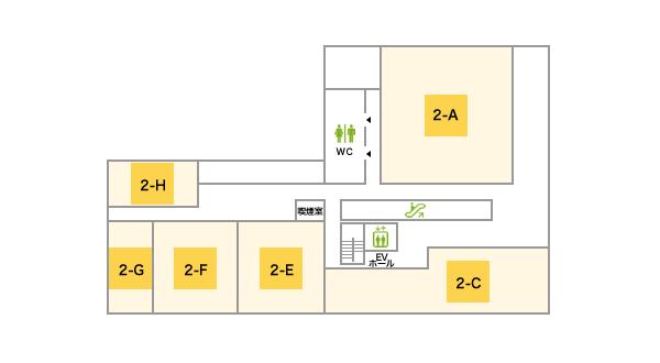 ホテルオーレ2Fフロアマップ